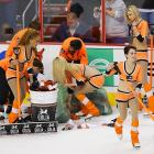 A cascade of chapeaus was generated by winger Wayne Simmonds' hat trick in Game 6 of the Flyers' first round playoff series vs. the New York Rangers at the Wells Fargo Center in Philadelphia.