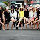 Speakin' o' hats, it's hard to top this display at Punchestown Racecourse's Ladies Day in Naas, Ireland.