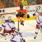 Unfortunately for Philly fans, after winning Game 6, Wayne Simmonds and the Flyers ultimately came crashing back to Earth and were eliminated by the Rangers in Game 7.