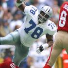 Out of tiny Emporia State, Lett burst into the Cowboys' starting lineup in 1994 and made the first of his two Pro Bowl appearances that season. One of the most dominant defensive tackles of his time, Lett was a member of three Cowboys Super Bowl championship teams, starting in Super Bowls XXVIII and XXX. Lett's off-the-field indiscretions and questionable plays sometimes tarnished his image, but he was a force during his 11-year career.