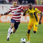 The U.S. will open its 2014 World Cup bid on June 16 against Ghana in Group G, followed by matches against Portugal and Germany. Here's a look at each of the U.S.'s qualifying matches, beginning with the June 8, 2012, game against Antigua and Barbuda. Midfielder Jermaine Jones battles for possession with midfielder Lawson Robinson in a match that the U.S ended up winning 3-1 in Tampa, Fla.