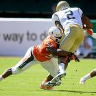 Perryman reportedly received a third-round grade from the draft advisory committee ahead of this draft, but he's obviously much higher than that here. Why? Well, even though he does not have ideal height (listed at 6-feet even), Perryman is a three-down LB who aggressively pursues sideline-to-sideline. Miami will move him to the MLB spot of its 4-3 after he racked up 108 tackles from the weak-side last year.