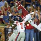 Probably the WR to beat headed into the 2014 college football season, Cooper had 104 catches and 15 TDs combined over 2012-13 with the Crimson Tide. There is very little not to like here ? the 6-1 Cooper breaks off sharp routes and said he ran three sub-4.4 40s after Alabama's recent pro day (grain of salt on that one, though Cooper's speed makes it believable).