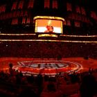 The scene at Montreal's Bell Centre as the Canadiens begin the Eastern Conference Finals against the New York Rangers.