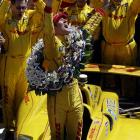 Hunter-Reay is the first American to win the Indianapolis 500 since 2006. A year ago, he was passed for the lead with three laps remaining and went on to finish third as the race finished under caution.