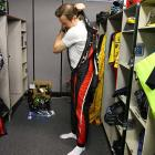 Busch suits up prior to his first ever Indy 500.