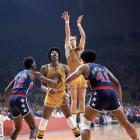 The underdog Warriors were bolstered by a red-hot Rick Barry, who led the team in a 4-0 sweep of the Bullets. Barry averaged 29.5 points, 5 assists, 4 rebounds and 3.5 steals in the series.