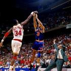 In Game 6, Olajuwon blocked a potential game-winning three by Knicks guard John Starks to secure the win and send the series to a final game.