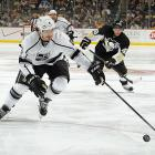 When the regular season resumed, the Kings tore through their schedule, going 13-3-0 out of the break including seven straight wins. Their run also included eight consecutive victories on the road, a new team record that was set when they defeated the Penguins in Pittsburgh on March 27 in a foreshadowing of their uncanny ability to prevail away from home during the playoffs.