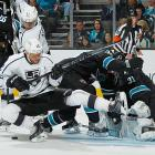 In the midst of the Kings' late-season surge, general manager Dean Lombardi made a bold move, bringing in goal-scoring winger Marian Gaborik from Columbus at the March 5 trade deadline. Gaborik (12), a shifty if delicate three-time 40 goal scorer, began establishing a chemistry with center Anze Kopitar (rear). It didn't come right away?Gaborik was held off the scoresheet in six of his first nine games as a King?but over time, the speedy winger found his groove with 12 points in his last 10 games of the season and gave the team an offensive boost that would make it much more dangerous in the playoffs.