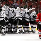 In a rematch of the Western finals, the Kings met the defending champion Blackhawks. It proved to be a thrilling, unforgettable seven-game series that featured a blistering pace, incredible skill, wild momentum swings, and iffy goaltending. After letting Chicago come back from a three-games-to-one deficit, the Kings ultimately triumphed in Game 7 when defenseman Alec Martinez scored at 5:47 of overtime. The deciding game of the series was the most watched non-Cup final match or Winter Classic in the U.S., and it made the Kings the first NHL team to ever win three consecutive Game 7s on the road.