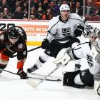 With Jonathan Quick, their 2012 Conn Smyth-winning goalie, sidelined for 24 games by the strained groin he suffered against Buffalo on Nov. 12, backup Ben Scrivens helped keep the Kings afloat. But it was rookie third-stringer Martin Jones (pictured) who became a revelation. Starting with his gutsy shootout win over Anaheim on Dec. 3 in his first NHL start, Jones went on to win his next seven, tying Bob Froese's 31-year-old league record of eight victories to start an NHL career. In that span, Jones posted a sparkling .966 save percentage and .980 goals-against average, and shut out three opponents.