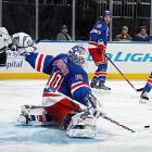 """Henrik Lundqvist's impending unrestricted free agency after the season was a source of distraction and whispers that the King might be planning to leave. Contract talks went slowly and Lundqvist's play seemed affected by it. The controversy hit a peak when the former Vezina Trophy-winner was a healthy scratch in consecutive games, but on Dec. 4 he agreed to a seven-year, $59.5 million extension that firmly established him as the NHL's highest-paid goalie. """"I know there's been some speculation,"""" he told reporters. """"But from the heart, it was never an option to leave this club."""" Added GM Glen Sather: """"So it's up to you, Henrik ?now just carry us on your shoulders."""""""
