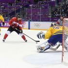 The Rangers sent seven players to the Winter Games in Sochi, Russia: Henrik Lundqvist and Carl Hagelin (Team Sweden); Rick Nash (Canada); Ryan Callahan, Ryan McDonagh and Derek Stepan (USA); and Mats Zuccarello (Norway). Nash (not pictured; that's Sidney Crosby) came home with the gold medal after Canada beat Lundqvist (in net) and Hagelin, 3-0, in the championship game.