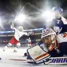 """Three nights later, the Rangers again """"went on the road"""" to the House That Ruth Built where the wind chill was in single digits, but it didn't cool off the Blueshirts, who edged their other area rival, the New York Islanders, 2-1, on Dan Carcillo's goal at 4:36 of the third period. The win left the Rangers' all-time mark in outdoor games a perfect 3-0. """"They're a ton of fun,"""" said New York defenseman Marc Staal. """"I could play in 50 of these in a year. Maybe not 50. Forty."""""""