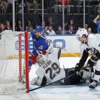 """After falling into a three-games-to-one hole against the favored Penguins in the second round, the sluggish Rangers were shaken by the news that Martin St. Louis's mother, France, had died suddenly of a heart attack. St. Louis went home for the wake, but returned for Game 5, which the Rangers won decisively, 5-1. """"We flipped a switch,"""" winger Mats Zuccarello told SI. """"I believe it was each guy saying, Marty is here. What excuse do I have? I know he inspired me."""" In Game 6, played on Mother's Day, it was only fitting that St. Louis would open the scoring 3:34 into New York's 3-1 win and turn MSG into a cauldron of emotion. From there, the Rangers never looked back, prevailing 2-1 as Henrik Lundqvist made 35 saves while setting an NHL mark with his fifth straight Game 7 victory."""