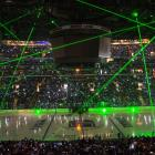 A light show before Game 1 of the Stanley Cup Finals between the Los Angeles Kings and New York Rangers