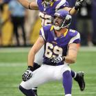 Jared Allen leaves a path of destruction behind him wherever he goes in the NFL, and his sack celebration, which mimics an explosion, certainly reflects that.