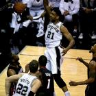 Tim Duncan had 18 points and 15 rebounds for the Spurs, who had won eight straight at home by 15 more points.