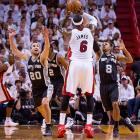 LeBron James tried to keep the Heat in it with 28 points and eight rebounds, but Dwyane Wade was just 1 of 10 through three quarters and finished with 10 points.