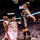 Tiago Splitter and the Spurs lost twice in Miami to end last year's finals, their only defeat in the championship round. They won their two games in South Florida this time by a combined 40 points.