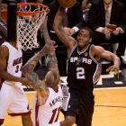 SI's best shots from Game 4 of the NBA Finals, in which the Spurs took a 3-1 lead in the series. Kawhi Leonard had 20 points and 14 rebounds as San Antonio routed the Miami Heat again.