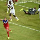 United States defender John Brooks celebrates his late goal in the U.S.'s 2-1 World Cup-opening win over Ghana.