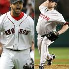 Josh Beckett came over in an offseason trade from Florida to give Boston two former World Series MVPs.