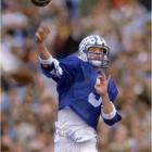 It wasn't just Jim McMahon's incredible 60-yard game-winning touchdown pass  to Clay Brown with no time remaining , but the entire final three minutes. BYU was trailing 45-25 when it scored a TD, recovered the onside kick, scored again and then failed to convert a second onside kick. But the Coughars defense held tough and forced a punt with 16 seconds left. McMahon then found Brown between three SMU defenders to cap one of the greatest comebacks in college football history.