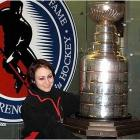 I saw the Stanley Cup in Toronto over winter break. As if it wasn't cold enough in Buffalo, I headed north! You can't see the logo, but it's a Buffalo Sabres fleece. It's cold enough here that I can wear it 10 months out of 12. -- Jessy Minney