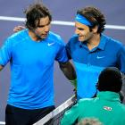 """Wild conditions at the Masters 1000 event tipped the scales in Federer's favor, who played it safe after the match was delayed nearly three hours for rain. Nadal's dejected disposition on the court showed the effect the wind was having on his heavy topspin shots, while Federer said he """"had a no-lose mentality."""" Federer advanced to the final with the win, where he beat John Isner to claim the title.    Nadal leads series 18-10."""