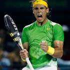 Nadal breezed in their first match in the United States since 2005, further cementing Federer's place outside of the top two in men's tennis. Nadal held each of his service games and converted 5-of-6 break points, while Federer committed 21 more unforced errors.    Nadal leads series, 15-8.