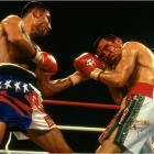 """Just 23 and with a record of 22-0, De La Hoya was defending his WBC super lightweight title against his boyhood hero Chavez, who at 33 was a Mexican legend, a multiple world champ and veteran of 99 fights. Unfazed by the pro-Chavez crowd at Caesars Palace in Las Vegas, the kid sliced the old lion to ribbons in four cruel, bloody rounds. Said a humble De La Hoya afterward, """"I need many more fights to learn, many more years to become a complete champion."""""""