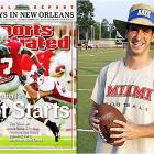 """In this 2005 cover shot of Ohio State wide receiver Ted Ginn Jr., Miami of Ohio linebacker Burke was along for the ride. """"People see this and think I got dragged across the field,"""" says Burke, 22, who graduated in May. He now lives in Houston and works for a global accounting firm. """"Actually, I tackled Ted on our five-yard line. We held the Buckeyes on that series, and they settled for a field goal. Of course, we lost 34-14."""""""
