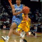 An All-America in track and a multiple-medal winner in Olympic competition, Jones also steered the North Carolina Tar Heels to a 92-10 record during her tenure with the basketball team, including the national championship in 1994. An All-America point guard, she ranks fifth on UNC's all-time assists list, third in steals and seventh in blocks despite playing only three years.