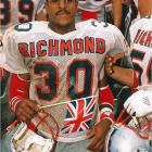 At the University of Richmond, Jordan was an All-America cornerback and still holds the school record for punt-return yardage (692 in 60 tries). In baseball, however, the All-East Region first-teamer rewrote the record books. Jordan hit .321 for his career, scored 66 runs and stole 27 bases -- both school records -- in 1988.