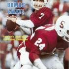 At Stanford, John Elway set virtually every Pac-10 career record for passing and total offense, pacing the country in touchdown passes (24) in 1982. An All-America, he also excelled on the diamond, hitting .361 with nine homers and 50 RBIs in 49 games as a sophomore before spending his collegiate summers playing for the Yankees.
