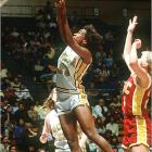 The UCLA All-America set records in the long jump and pentathlon in 1985, won the Broderick Cup as the country's best female athlete and was the NCAA pentathlon champ in 1982 and '83. The 1988 and '92 Olympic heptathlon champion was also a four-year starter and All-America basketball player for the Bruins.