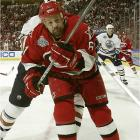 Hardworking Cory Stillman has been a major factor in Carolina's Cup run, but his lazy cross-ice pass to Eric Staal in OT proved to be disastrous.