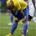 Ronaldo is distraught after seeing his hopes of defending Brazil's World Cup title fizzle away.
