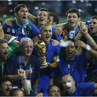 The Italians have now won four titles -- 1934, 1938, 1982 and '06 -- and are now second only to Brazil's five championships.