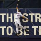 Mets left fielder Endy Chavez made quite possibly the most unbelievable catch in postseason history. Chavez perfectly timed his leap and reached far over the wall to rob Scott Rolen of a go-ahead home run in the sixth inning, sending Shea Stadium into a frenzy. Unfortunately, the catch couldn't prevent what was to come ...