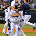 The Rays jumped out to a 3-1 lead in the series, but nearly let it slip away by blowing a seven-run lead in Game 5 and losing 4-2 in Game 6. Tampa Bay built a 3-1 lead in Game 7, but in the eighth inning Boston loaded up the bases with an error, a hit and a walk. With J.D. Drew coming up to the plate, the Rays called on rookie David Price. Price proceeded to strike out Drew and pitch a scoreless ninth, earning the save and sending Tampa Bay to its first World Series.