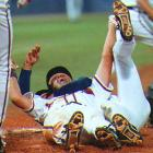 Trailing 2-0 through eight innings, Atlanta stunned Pittsburgh with a three-run rally. Pinch-hitter Francisco Cabrera won the series with a two-out, two-run single that scored David Justice and Sid Bream, one of the slowest runners in baseball history.