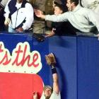 Twelve-year-old Jeffrey Maier created a game-tying homer by Derek Jeter in the eighth inning when he reached out of the stands and grabbed a ball that was about to be caught by Tony Tarasco. Bernie Williams homered in the 11th to give New York a 5-4 victory.