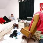 """A shot of Brad Robbins' bedroom -- which he openly admits is """"disgustingly messy."""" Somehow, Robbins has managed to maintain a girlfriend who he claims """"is okay"""" with the mess."""