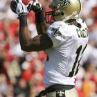 Last week: 1<br><br> Colston sprained his ankle in the first offensive series of the Saints' loss to the Bengals last week, but the Hofstra product is going to at least try to play Sunday against Atlanta and defend the top spot in the rookie rankings.