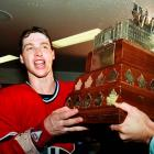 Only 20, Roy capped his rookie season of 1985-86 by becoming the youngest starting netminder to win the Stanley Cup as the Canadiens beat the Calgary Flames, four games to one. His postseason marks of 15-5, 1.93 GAA earned him the first of his three Conn Smythe Trophies.