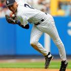 Thanks to A-Rod's 10-year, $252-million deal of 2001, the Yankees felt compelled to reward their own superstar shortstop, who, unlike Rodriguez, had actually won championships before. Jeter had four World Series rings when he signed this deal in 2001. In the final year of his contract, Jeter set career lows in batting average, on-base percentage and slugging percentage at 35. After the 2010 season, he agreed to a new three-year, $51 million contract that included a player option for the 2014 season, a salary that made him the highest-paid shortstop in the game and still one of the 20 highest-paid players in baseball.