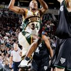 After a free fall turned the Bucks' once-promising 2001-02 season into a major disappointment, team chemistry was destroyed and the makeover began. Allen, a three-time All-Star in Milwaukee and one of the league's finest pure shooters, was traded to Seattle in a five-player deal (also involving Gary Payton) on Feb. 20, 2003.